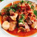 豚肩ロースとエリンギのトマト煮込み(動画レシピ)/Pork and Elingi mushrooms with Tomatoes.