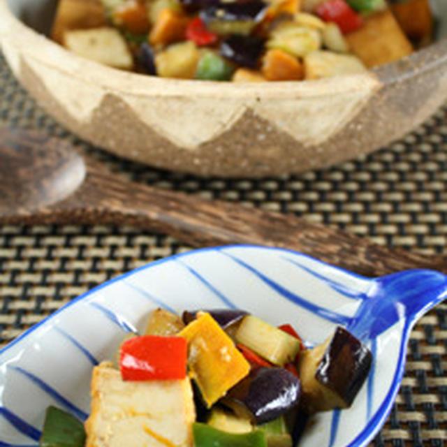 厚揚げと野菜のカレー塩麹炒め