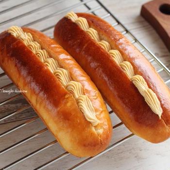 IFトレー買っちゃった!真っ直ぐなドッグパン焼き❁参考レシピあり