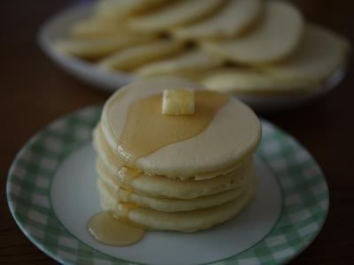 白いホットケーキ