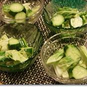 胡瓜と白菜のゆず風味ピクルス