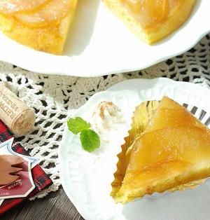 フライパンとHMで簡単♡ちょっと豪華なリンゴのケーキ