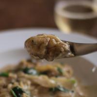 牡蠣のカレー風味クリーム煮。