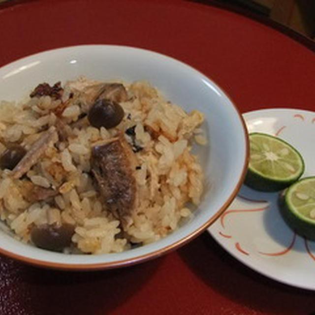 香ばし〜い 秋刀魚ご飯!