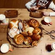 頂き物のパンで朝ごパン