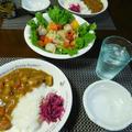 ご馳走サラダと残ったカレーで夕食^0^ by watakoさん