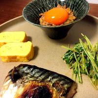鯖の和定食。スパイス大使