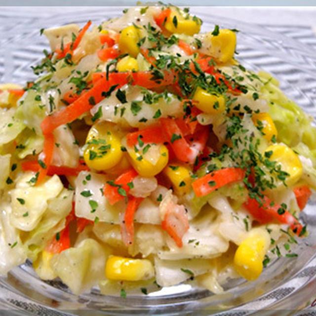 塩麹でヘルシーコールスローサラダ