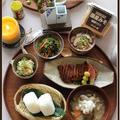 塩むすびと豚汁!日本の秋は美味しい♪