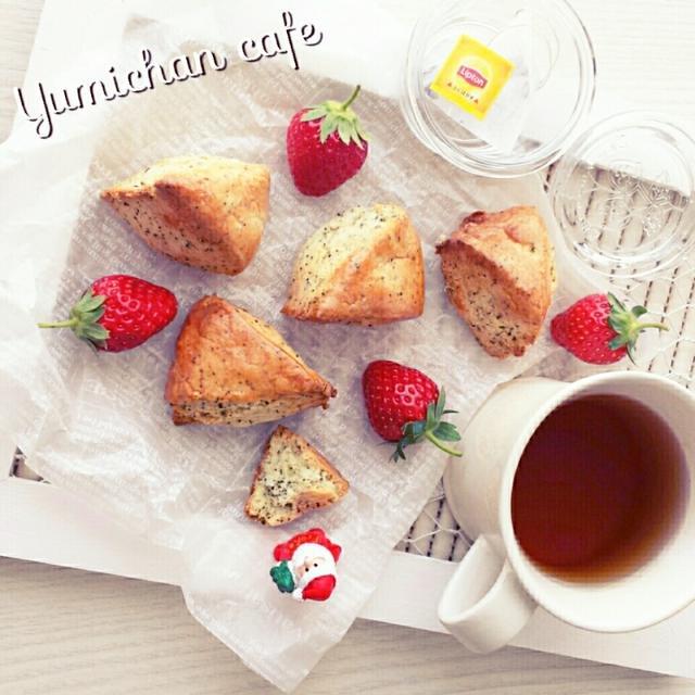 ♡ホイップde作る♪紅茶スコーンの作り方♡【~簡単*リプトンdeひらめき朝食*焼き時間13分~】