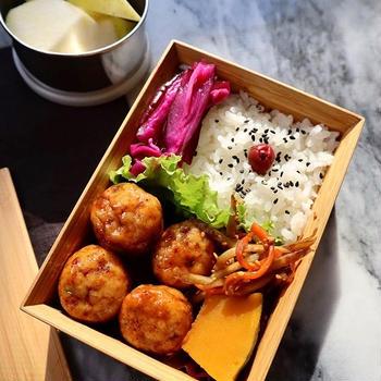 鶏つくね弁当♡【#お弁当#簡単レシピ】