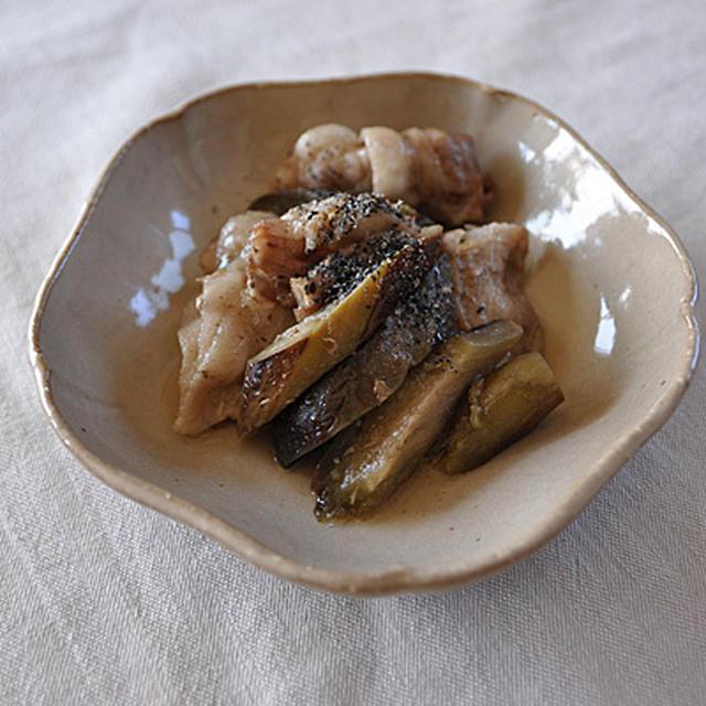 ナスと豚肉の炒め煮