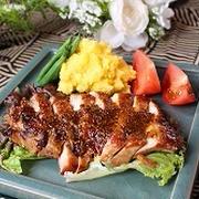 鶏のハニマスチリ焼きバル料理