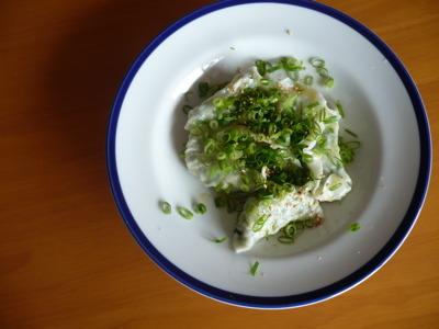 小松菜とささみで水餃子