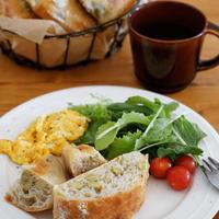 枝豆とチーズのチャバタ