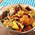 秋野菜のピリ辛ホットサラダ