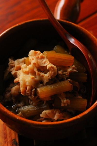 豚肉と蕗の煮物