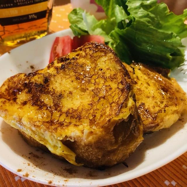 冷凍のフランスパンもおしゃれな朝食に♪シナモン香る☆フレンチトースト♪