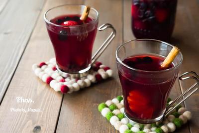 ホットワインの紅茶割り、ヨーグルトスコーン