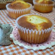 ふんわりしっとり 米粉でチーズカップケーキ