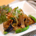 白身魚と野菜の素揚げ「おろし×おろし」和え【宮殿焼き肉のたれ:レシピブログモニター】