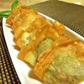 春菊の揚げワンタン柚子胡椒風味♪ by santababyさん