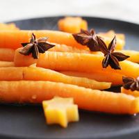 定番野菜料理を星型でバージョンアップ