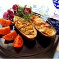 桜えびでお洒落イタリアン❤︎茄子と桜エビのチーズ焼き❤︎ナイフとフォークで食べてね♬