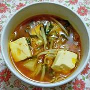 チゲ風キムチスープ