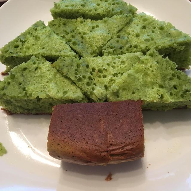 クリスマス向け小松菜ケーキ