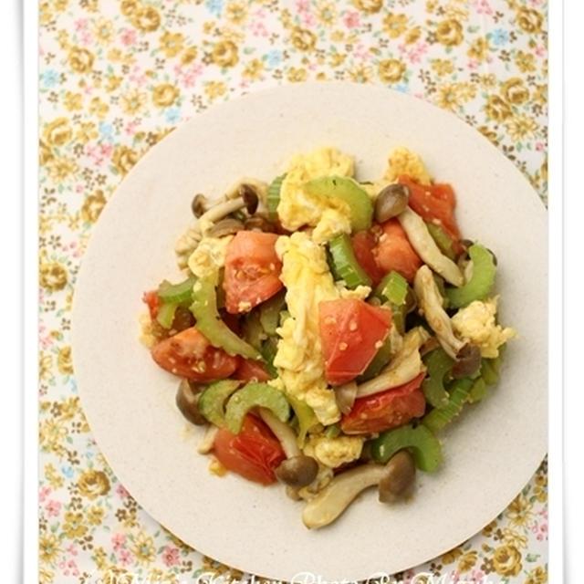 <スパイス大使>野菜とふんわり卵の香り炒め
