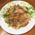 サンマの蒲焼き&長芋と豚肉のニンニク炒め