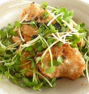 鶏せんべいサラダポン酢風味