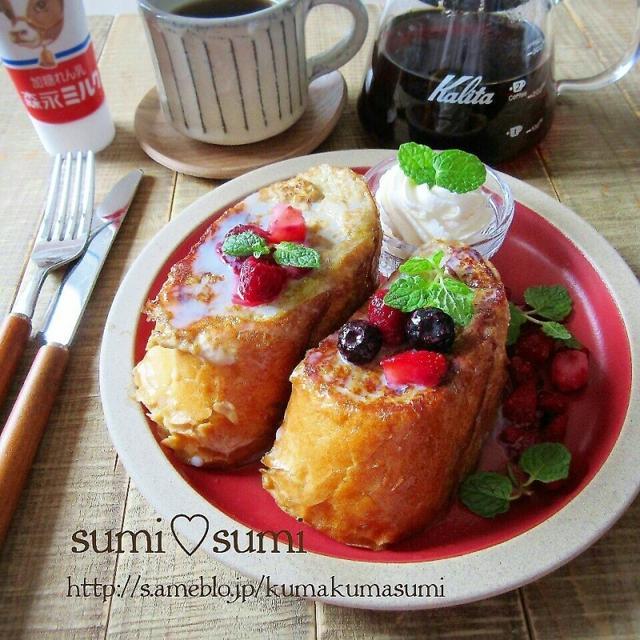 珈琲好きさんへ♥カフェモカ厚切りフレンチトースト