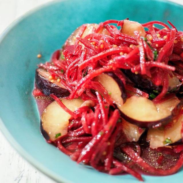 ビーツとプラムのサラダ【#簡単レシピ #キレイになるレシピ #野菜料理 #ベジファースト】