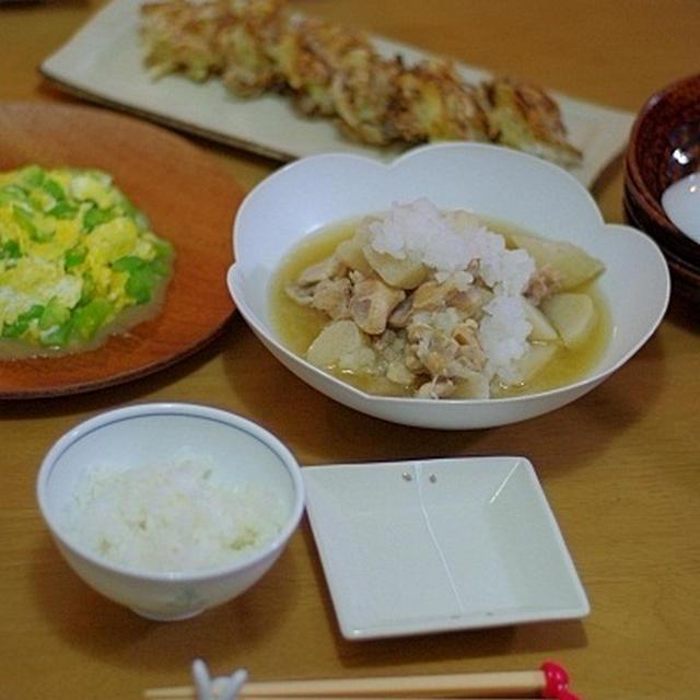 鶏肉と長芋のみぞれ煮で、ほっこりお夕飯