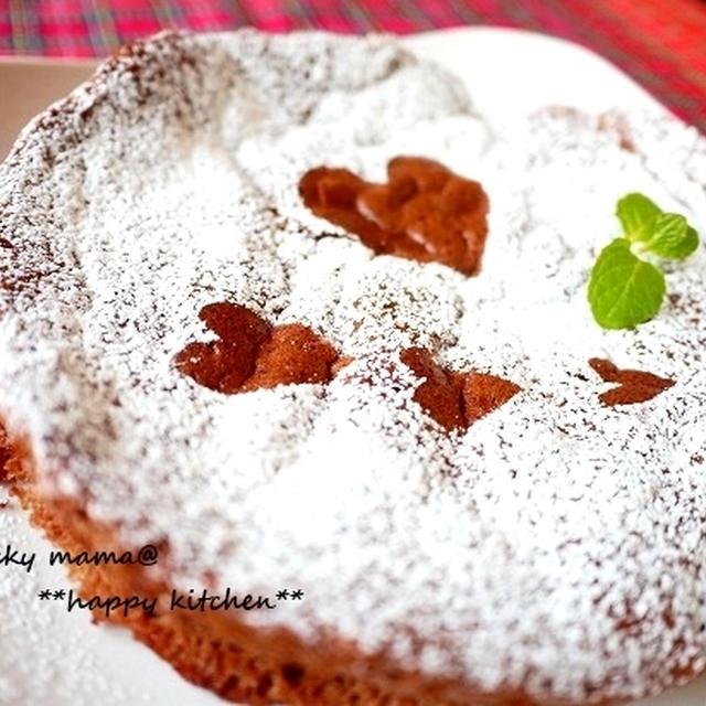 材料3つで簡単!ふわふわ濃厚チョコレートケーキ