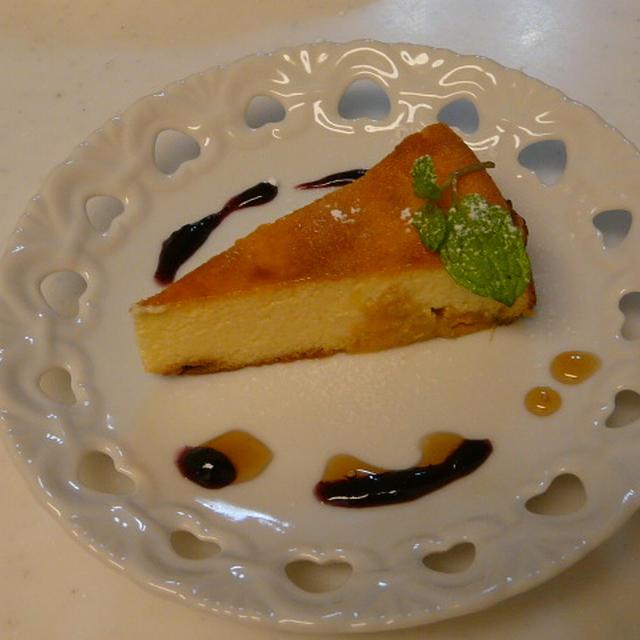 柿入りカッテージチーズケーキ・カラメル風味