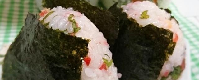 梅雨時のお弁当にオススメ!さっぱり「梅おにぎり」