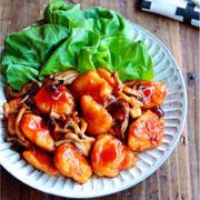♡黄金比率de超簡単♡鶏むね肉ときのこの甘酢ケチャップ♡【#時短#節約#甘酢あん】