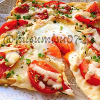 油揚げピザ!トマトとにんにくのビスマルク風(動画有)