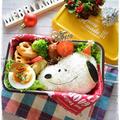 スヌーピーサンタさん弁当~女子中学生のおべんとう♪