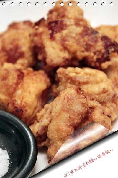 50度洗い+醤油麹仕込みの鶏の唐揚げと豆腐入りピザ生地。