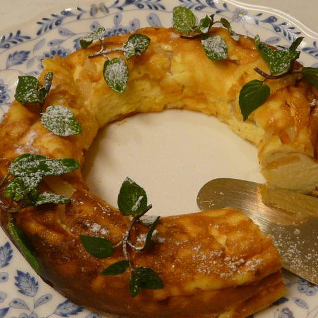 洋ナシのベイクドチーズケーキ