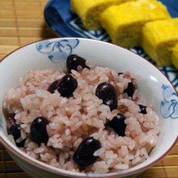 ほっこり赤空豆ごはん☆お酢で鮮やかに:現地体験会に行ってきます