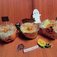 <おすしで~ハロウィン~>       ハロウィンカップ寿司<kitchen laboratory>