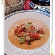 鯛と白葱の 塩麹トマトクリーム煮