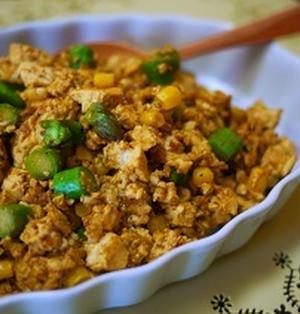 カレー風味のヘルシー豆腐そぼろ