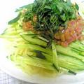 ネバ冷え☆梅納豆中華麺 by barbaさん