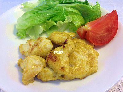 節約料理♪鶏むね肉の味噌カレーマヨ炒め